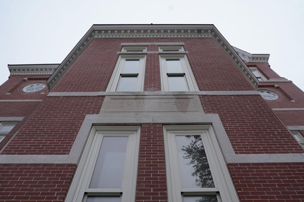 Pickard Hall, which once housed the MU chemistry department during the 1900s, stands on November at the Francis Quadrangle