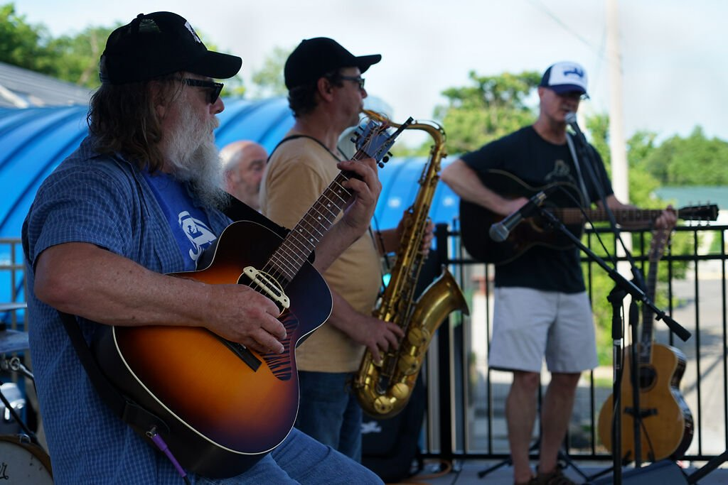 "The local blues band ""The Daves"" plays some music Friday at North Village Arts District"