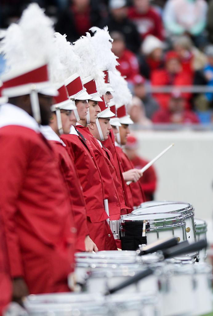 Arkansas marching band performs