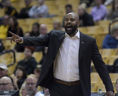Missouri men's basketball coach Cuonzo Martin yells to his team during the game against Wofford (copy)