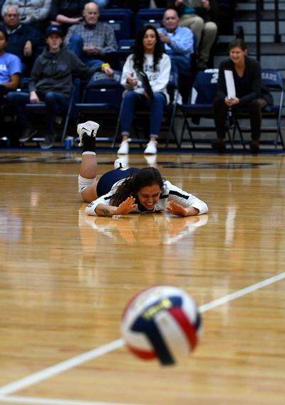 Columbia College's Raven Buckley reacts after her pass went out of bounds