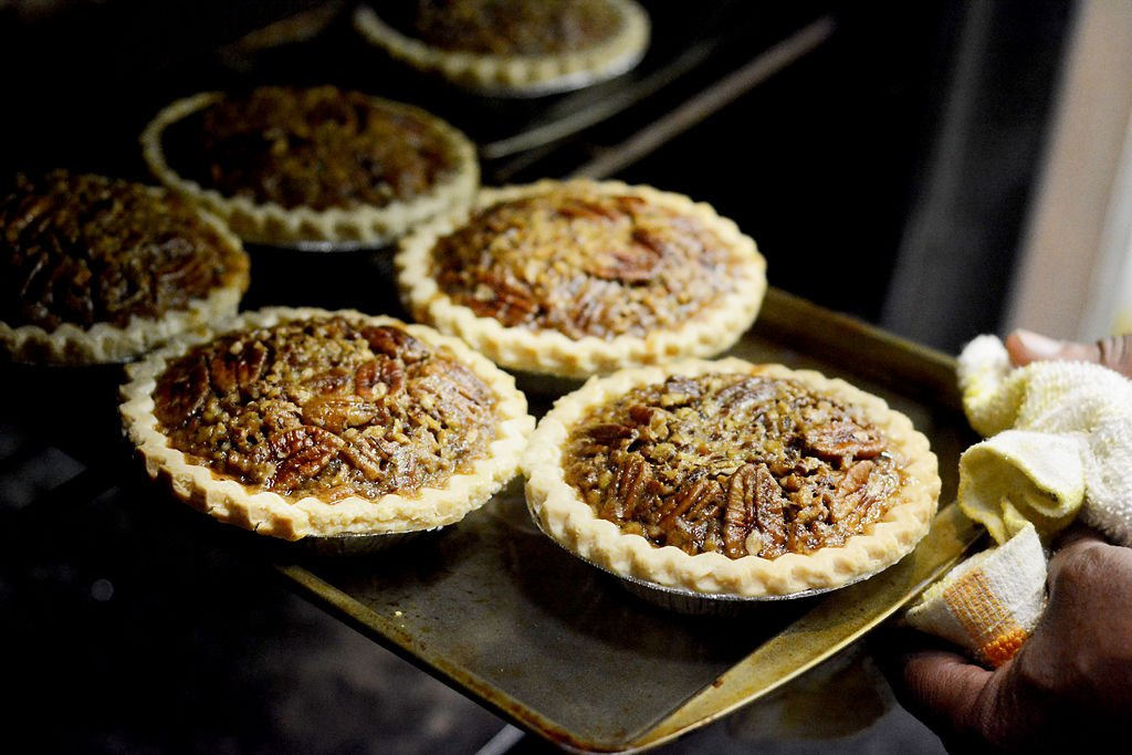 Sharif Hakim takes his pies out of the oven