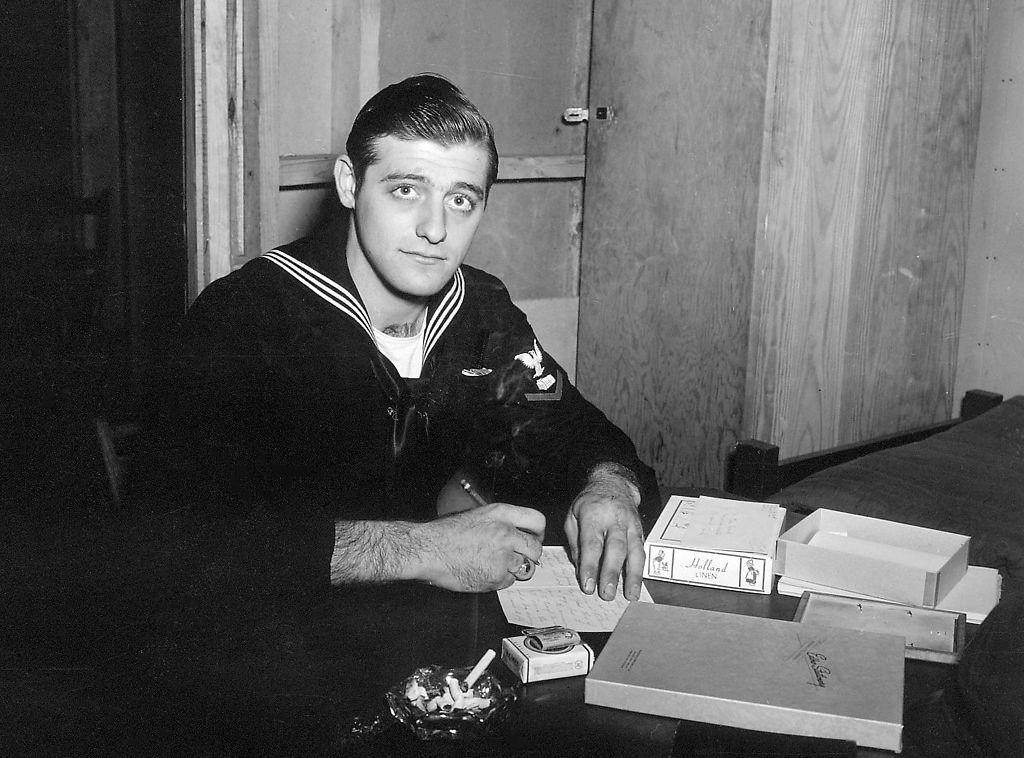 Milton Reim in the U.S. Navy around 1945