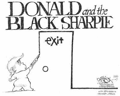 Donald and the Black Sharpie