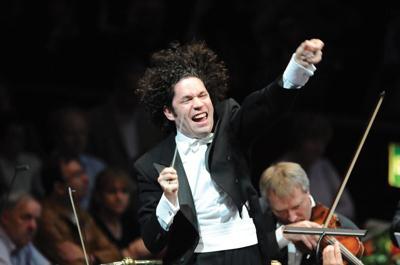 Gustavo Dudamel conducing the Los Angeles Philharmonic