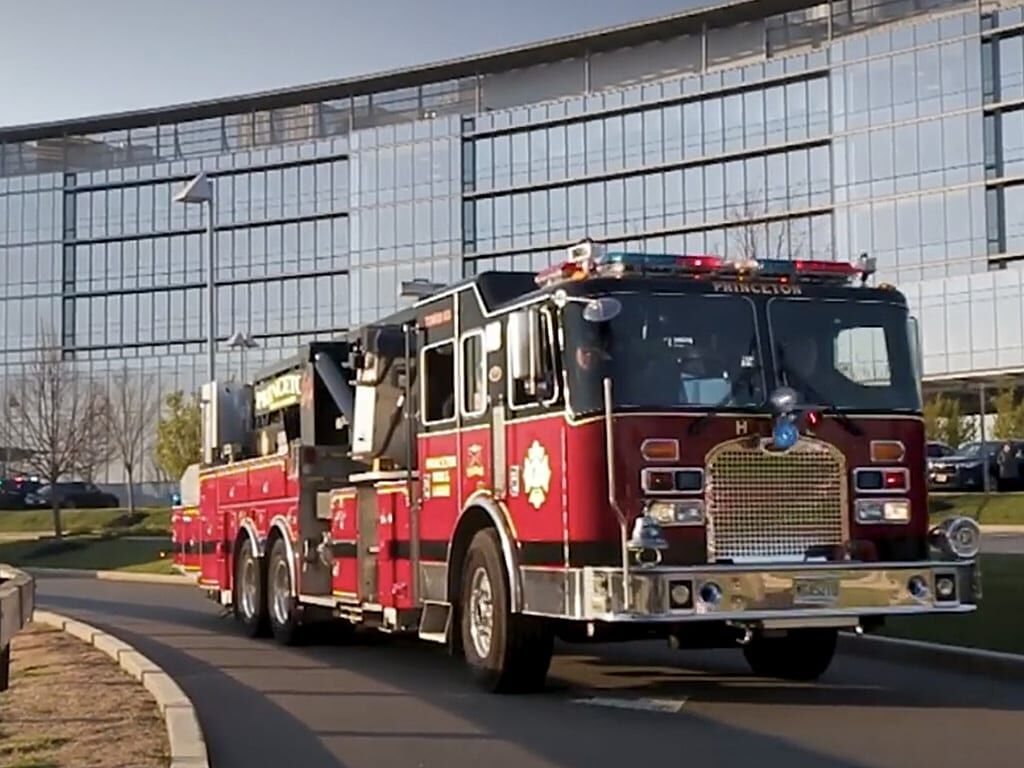 Fire truck at princeton medical center