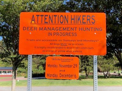 Deer Management sign