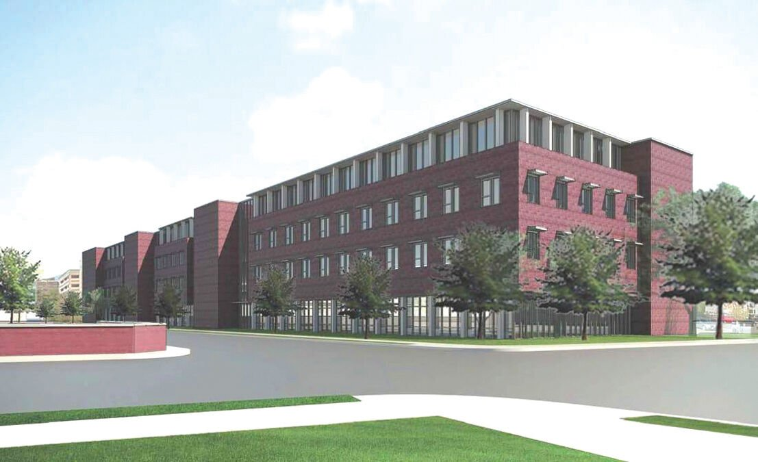 Rendering of Agriculture and Health department building on North Willow and Hanover