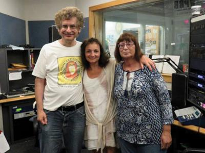 2021 05 EO Susan Nelson, right, with Marvin Rosen and Inna Lai in the WPRB studios for an episode of 'Classical Discoveries.'