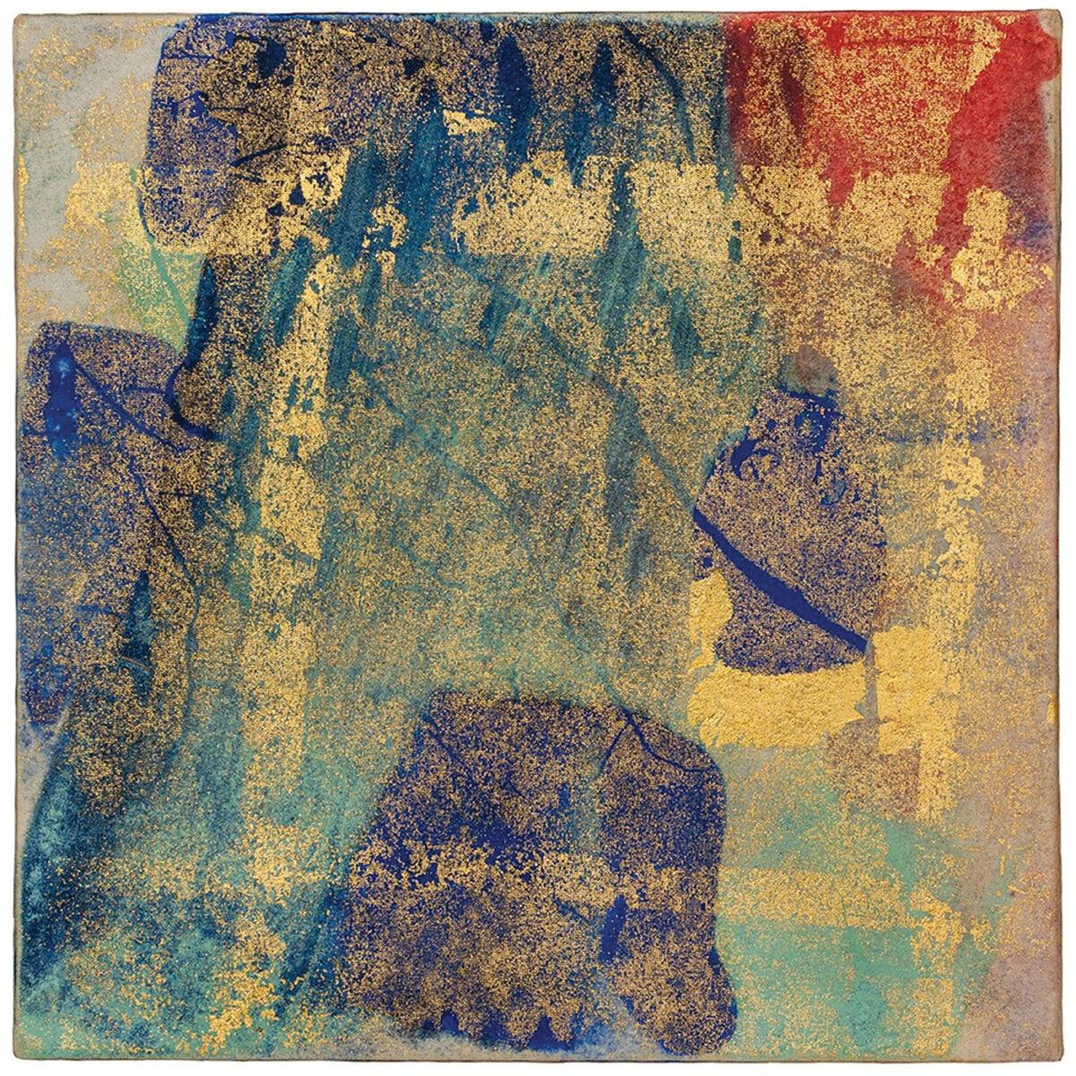 New Creation No 7, mineral pigments and gold, 6 x 6 inches.jpg