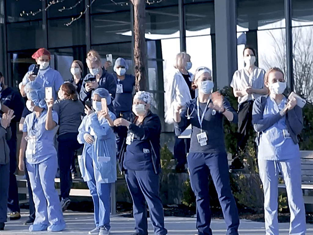 hospital workers