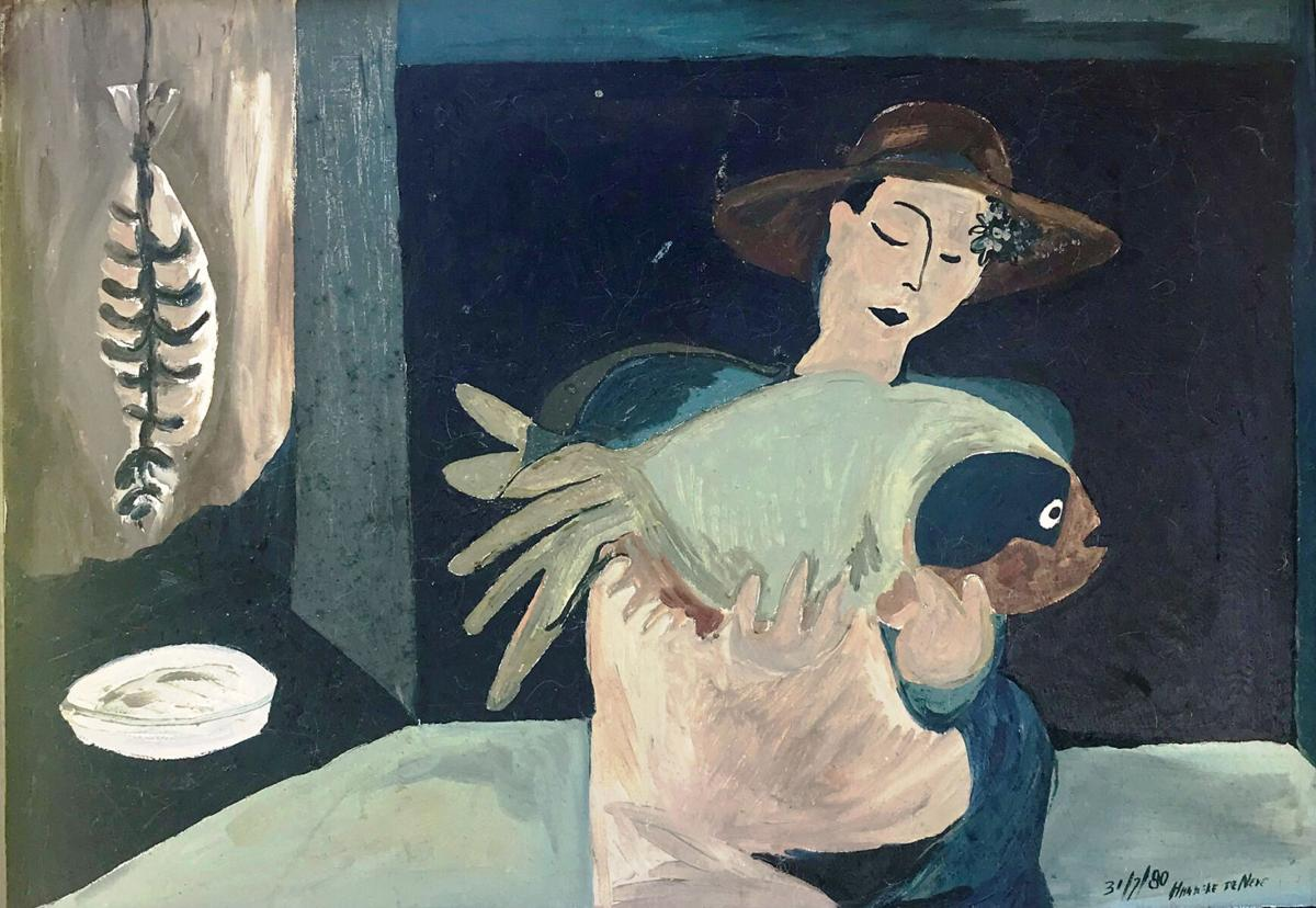 1 Woman with a Big Fish