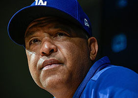 Dave Roberts Manager of he Los Angeles Dodgers