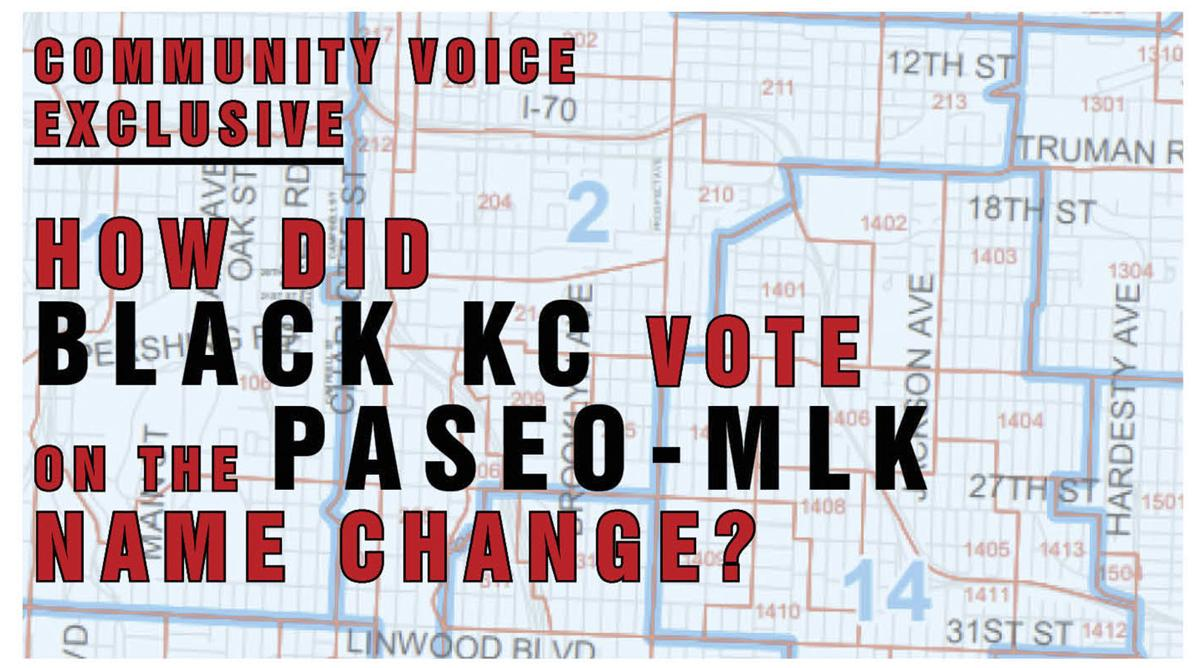 how did black kansas city kc vote on the Paseo MLK king name change ballot