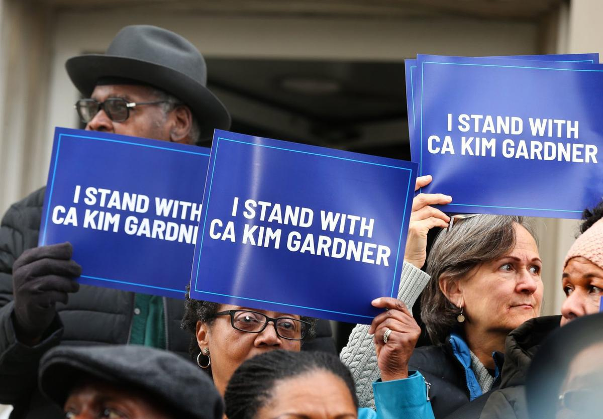st louis prosecutor kim gardner supporters protest against city police