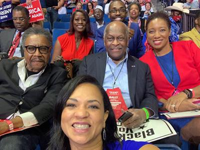 Herman Cane and Black Voices for Trump members