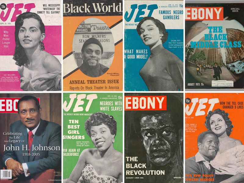 Jet Ebony magazine covers montage archive sale