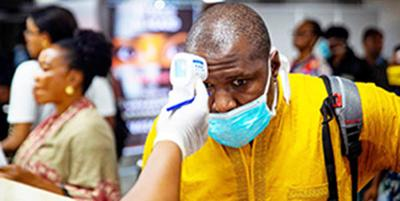 black person getting tested for coronavirus