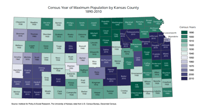 urbanization of kansas map