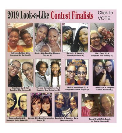 Community Voice 2019 Mother/Daughter Look-a-Like Contest Finalists Graphic