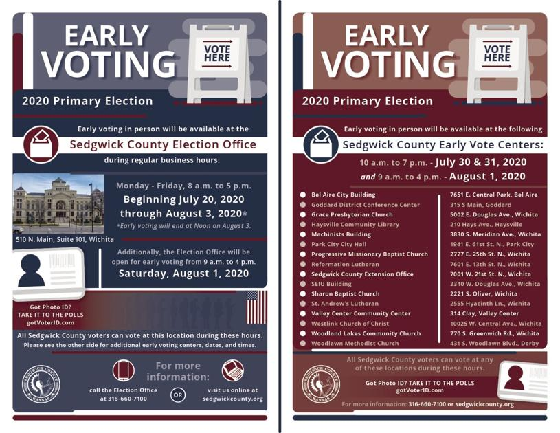 Some Confusion With Sedgwick County Advance Voting Ballot ...