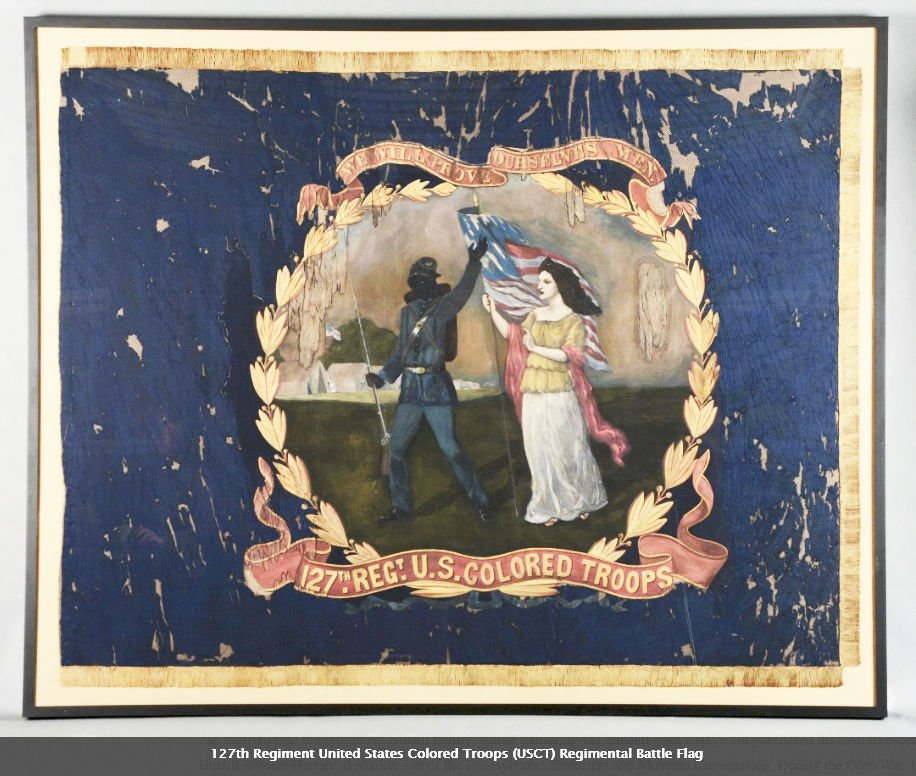 Civil War flag 127th Colored Regiment African American soldiers