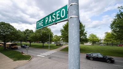 Paseo Sign Kansas City Martin Luther King Blvd