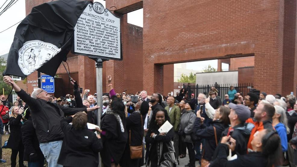 North Carolina historic marker unveiled wilmington coup