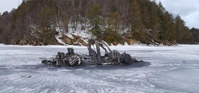TESLA BURNED ON LAKE CHAMPLAIN