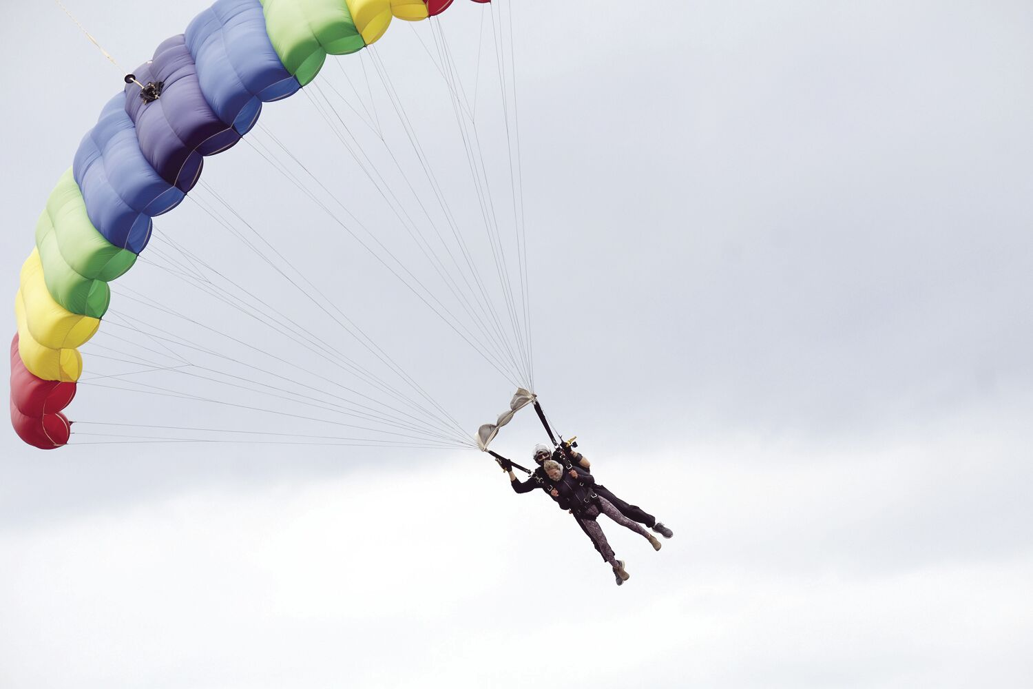 Skydivers thrill to jump over Fryeburg