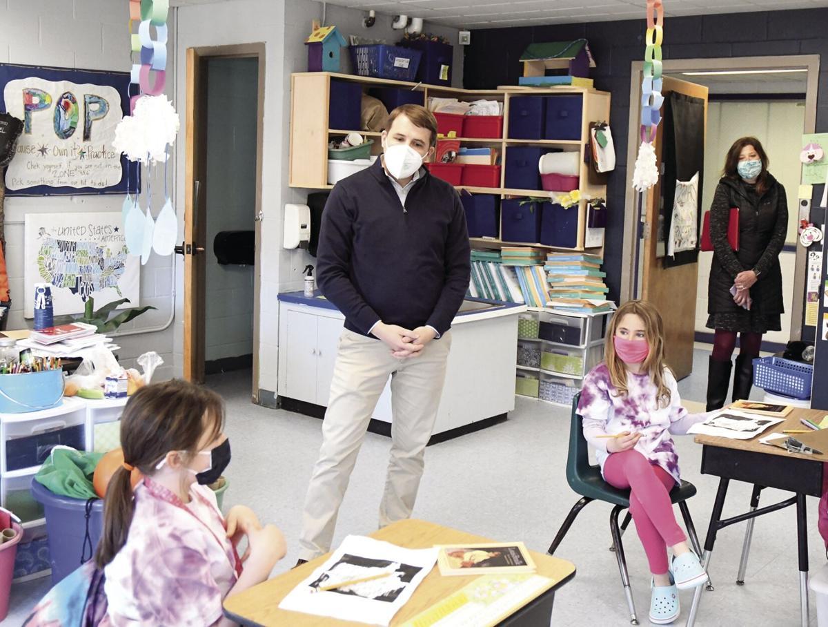 Rep Chris Pappas vsits SAU 9 - at Conway Elementary 3