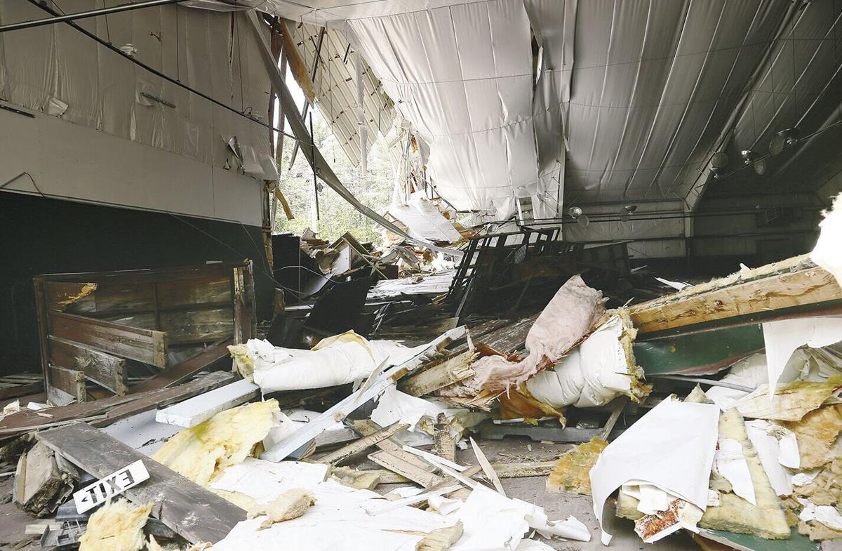 05-18-21 Artist Falls Demo interior piles horizontal