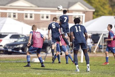 FA boys soccer - Jil Sehr header