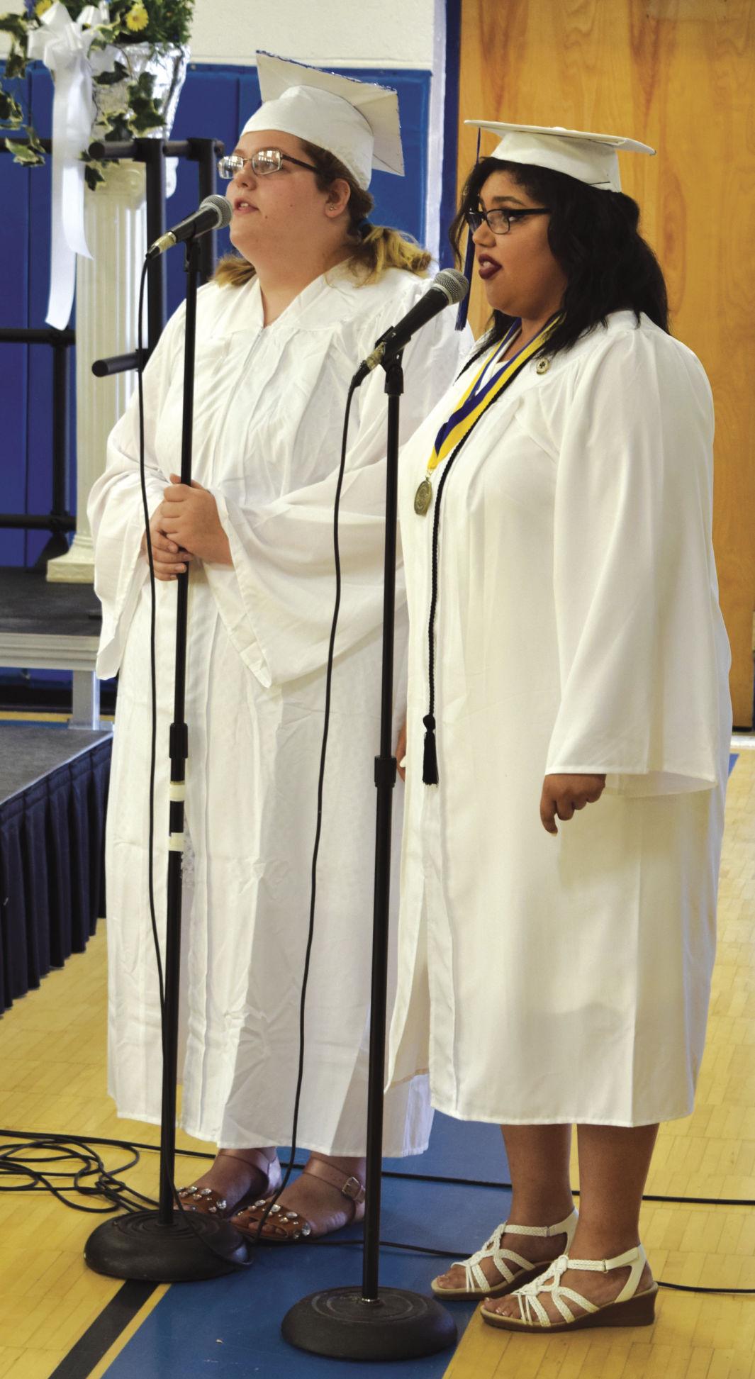 GHS Graduation - Seniors Brianna Taylor and Elizabeth Anderson