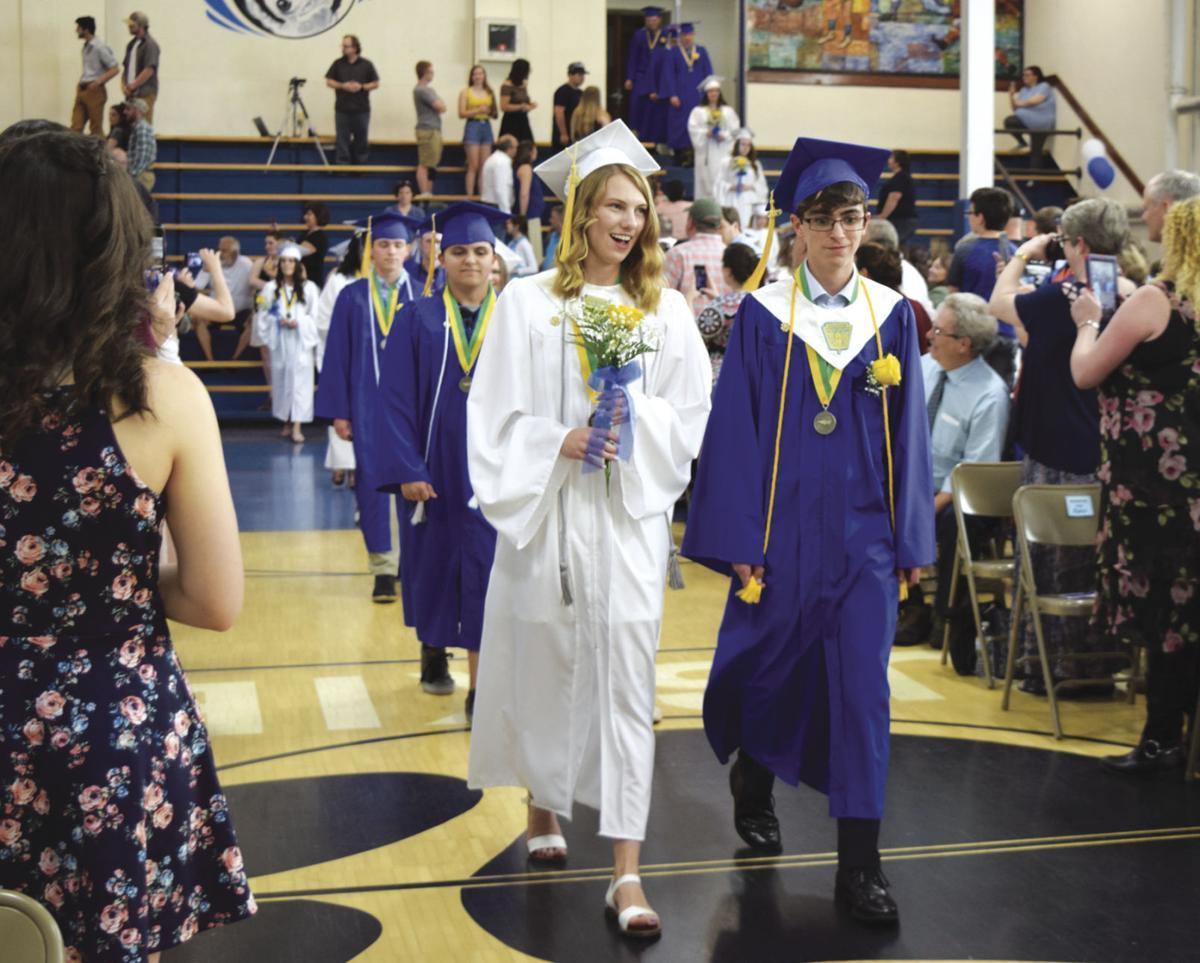 GHS Graduation - salutatorian Abigail Bernier and valedictorian Bryce Gauthier
