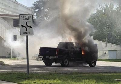 Truck Fire North Conway