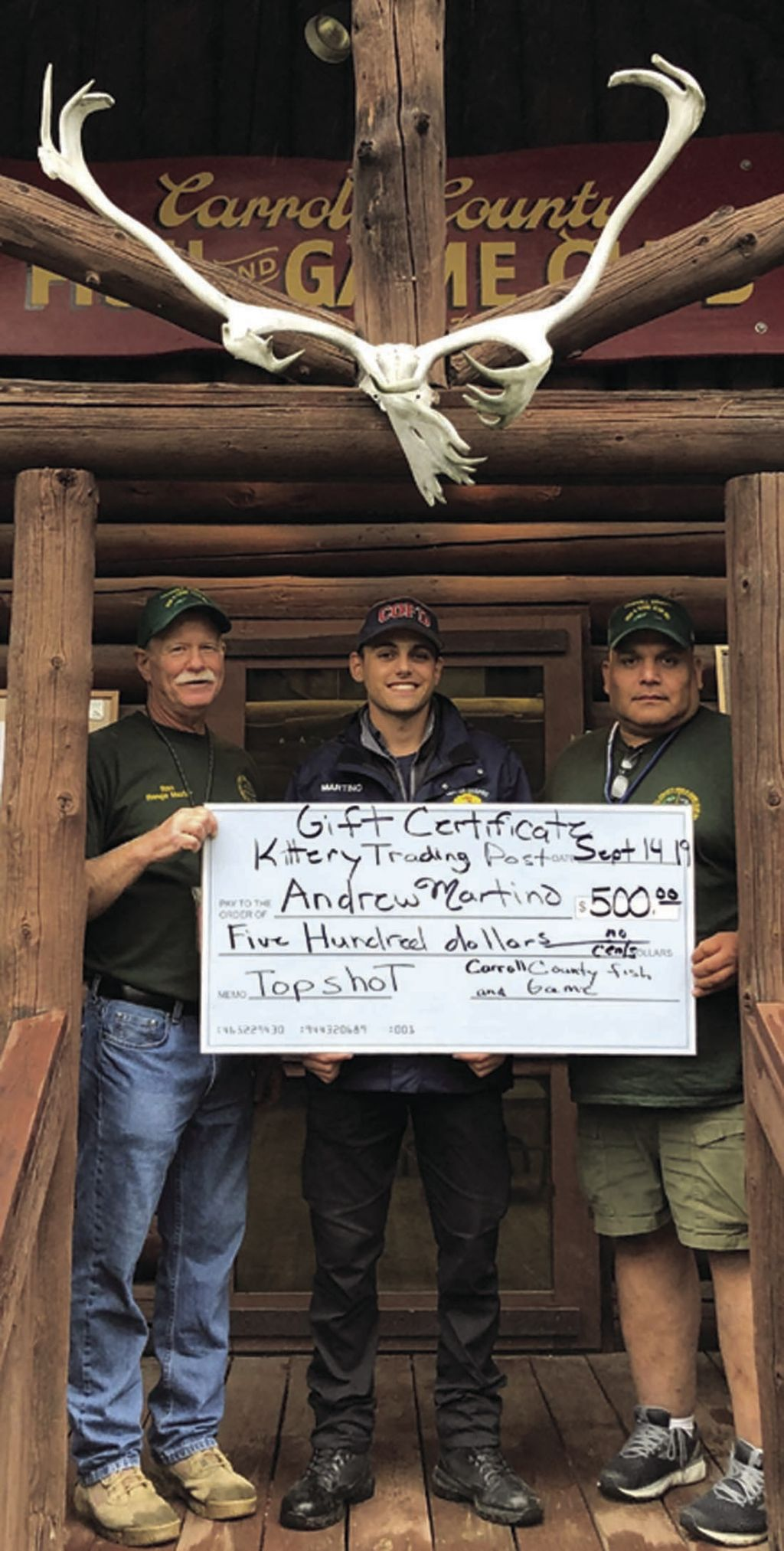 Ossipee firefighter wins shooting contest