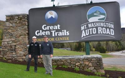 Tobey Reichert assistant general manager of the Mt. Washington Auto Road  with Howie Wemyss