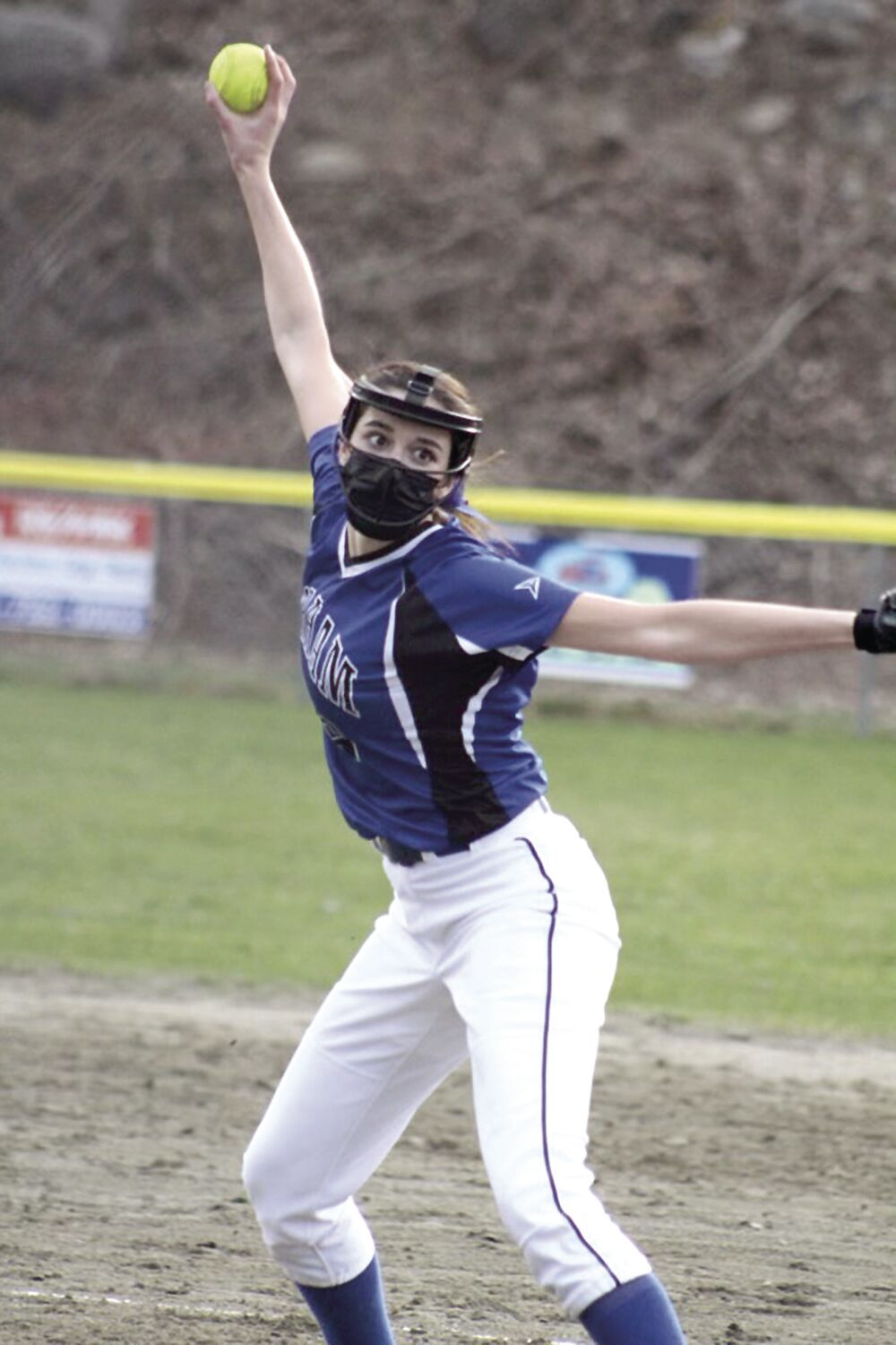 Gorham High Softball - Bry Poirier pitching