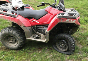 Massachusetts man loses control of his ATV