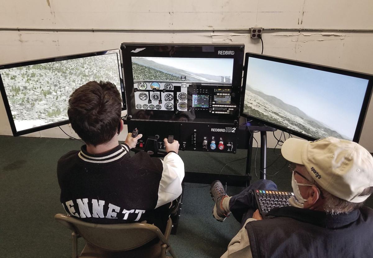 Aviation Academy - Kliian MacPherson on flight simulator