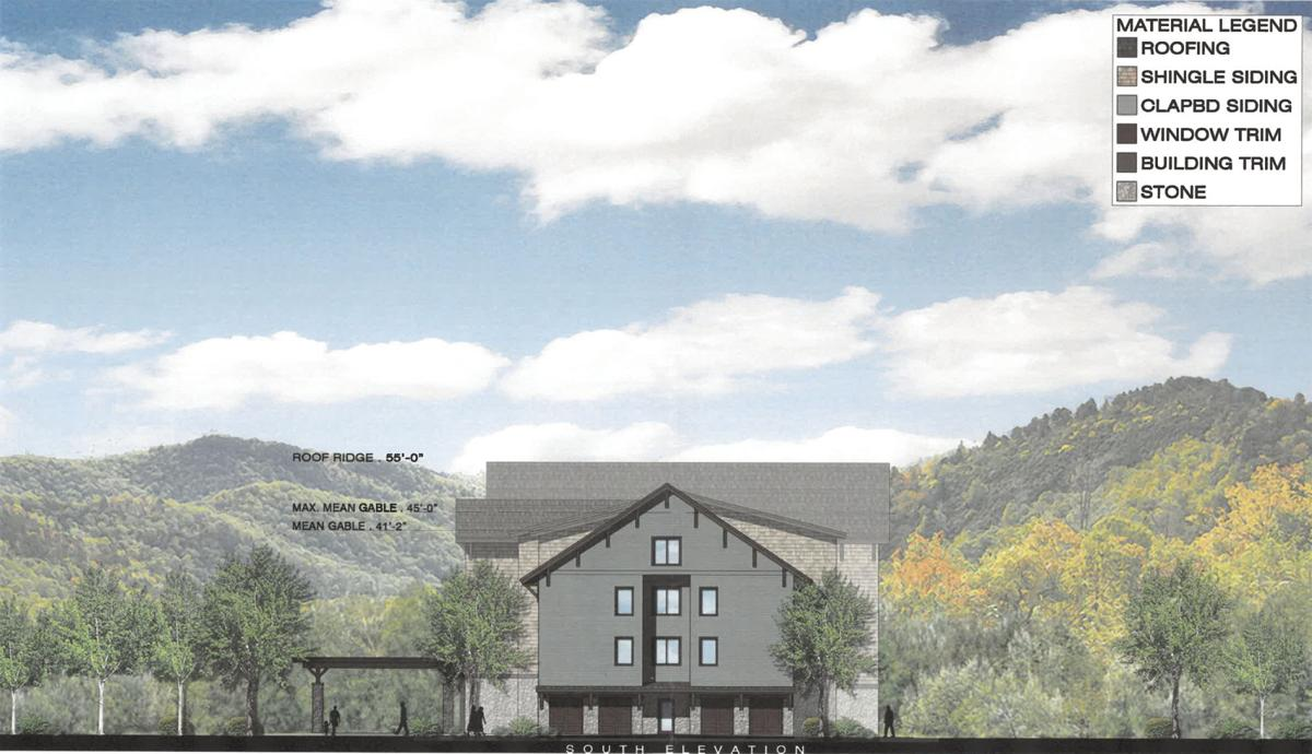 South elevation of proposed Cranmore hotel
