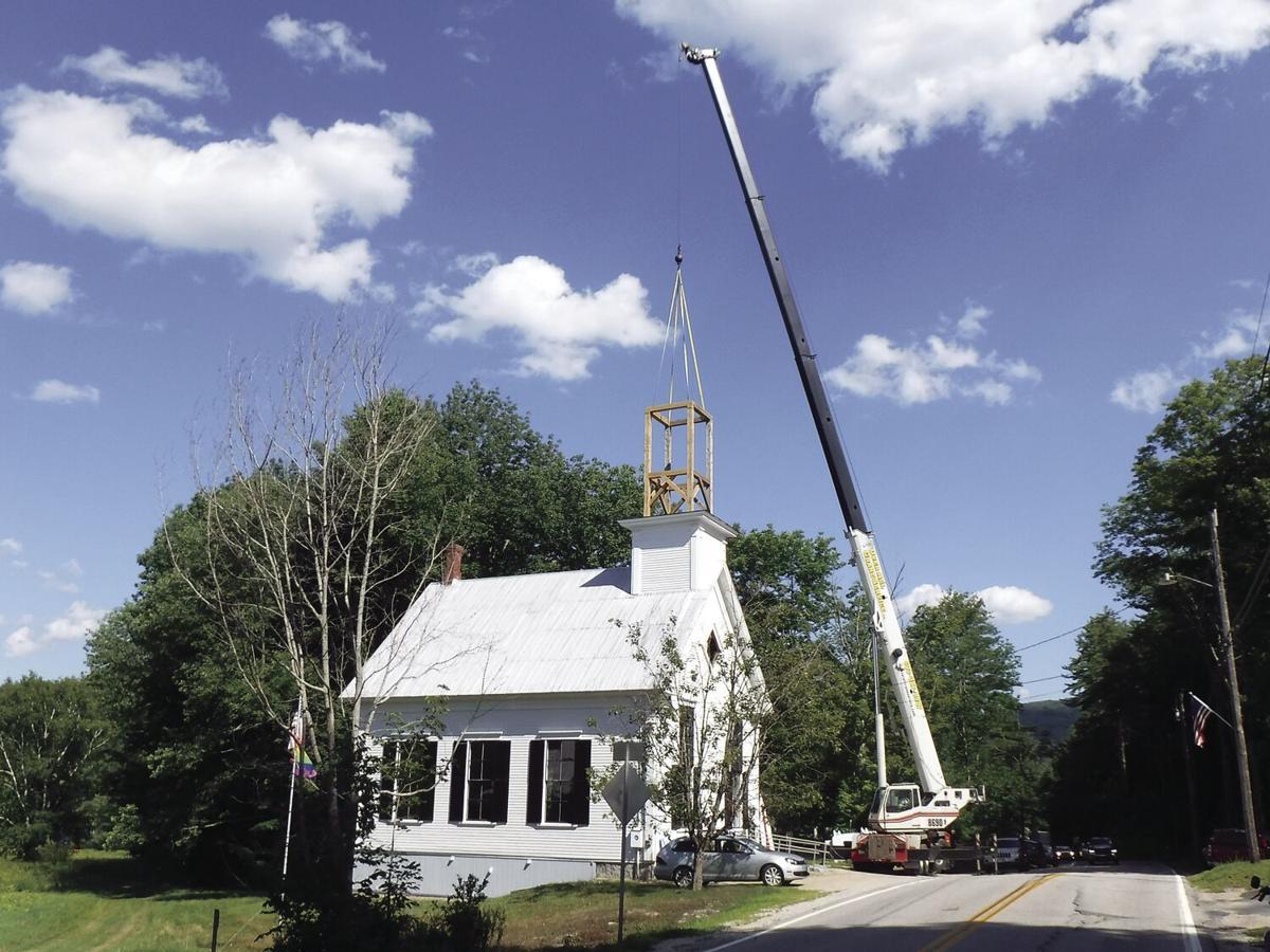 7-31-20 Little White Church and crane 1