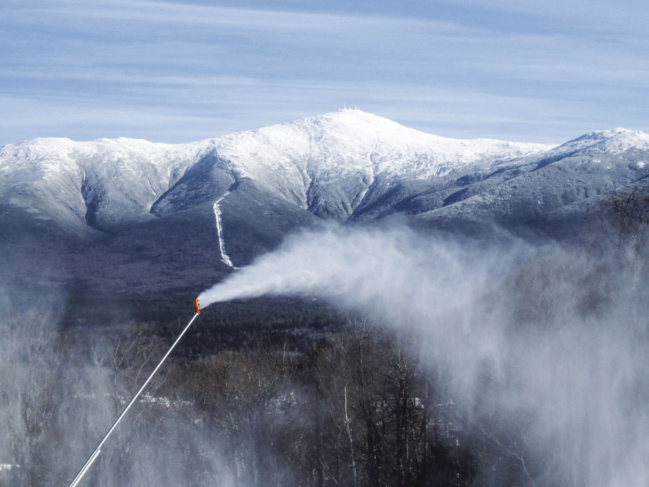 Bretton Woods - snowmaking and Mount Washington