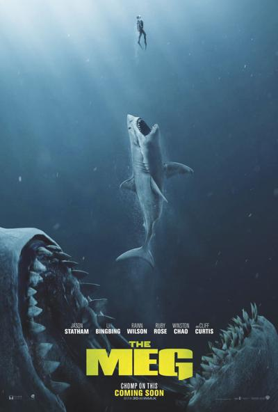 review statham shark movie �the meg� delivers movies