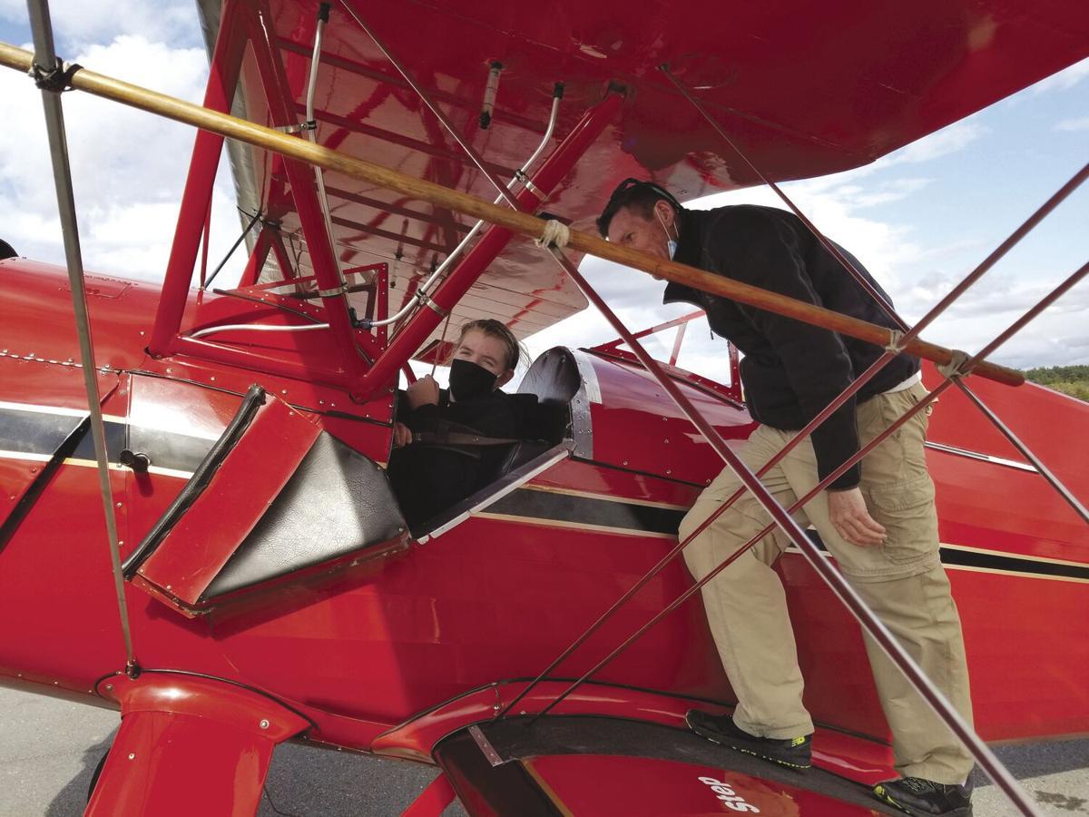 Aviation Academy - Rachel Hebert in plane