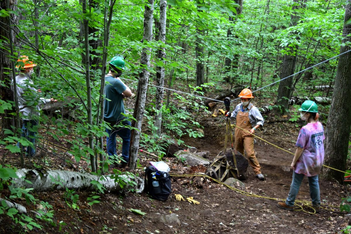 BHS JAG students work with AMC to improve Mt. Jasper Trail
