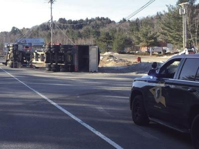 Ossipee man charged in tractor trailer rollover | Local News