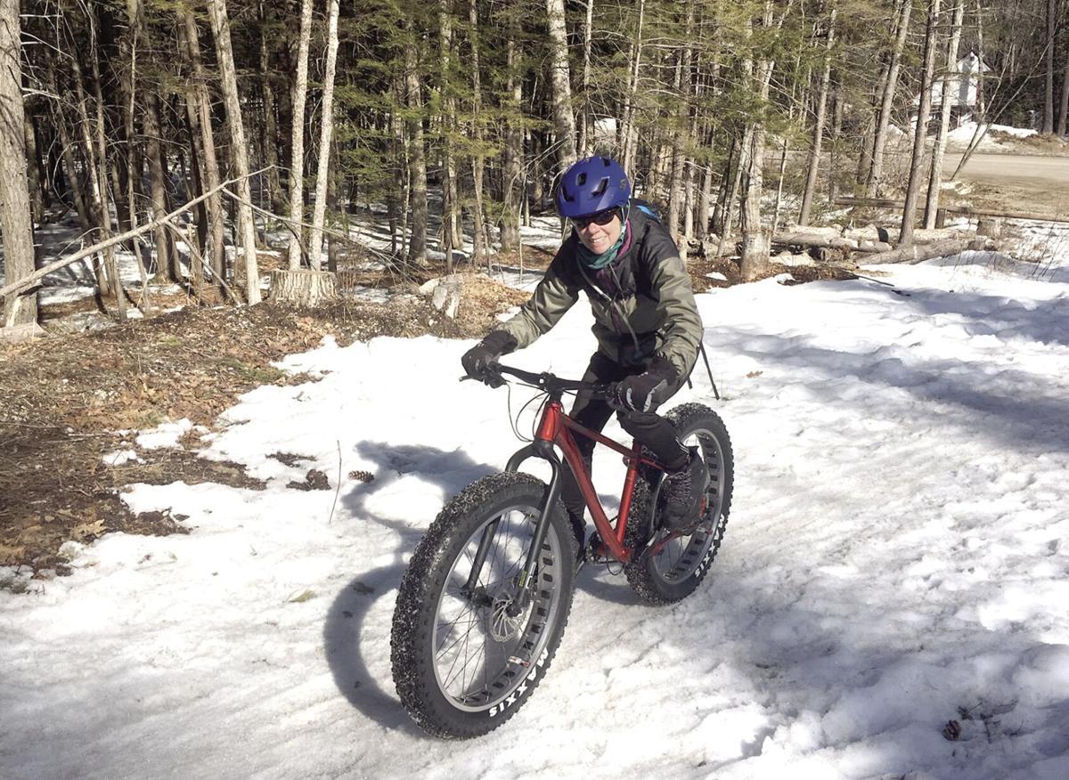 Nordic Tracks - McMurdo on her KHS 1000 fat bike
