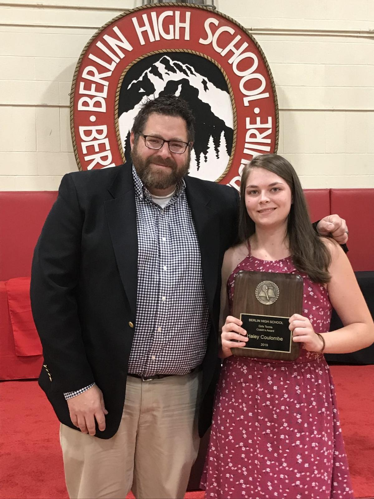 Hailey Coulombe with Coach Andy Rancloes